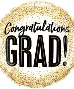 Graduations Gold Glitter Dots Balloon