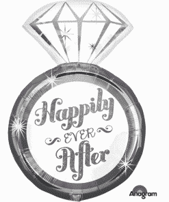 Happily Ever After Ring Supershape Balloon