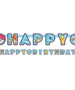 Pokémon Birthday Letter Banner