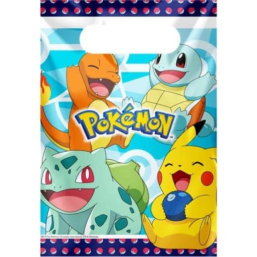 Pokémon Plastic Party Bags