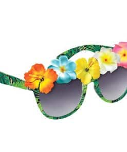 Summer Tropical Flower Novelty Glasses