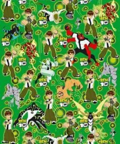 Ben 10 Wrapping Paper