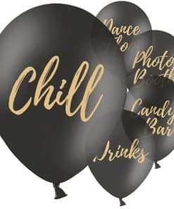 Black Wedding Sign Balloons