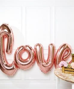Giant Rose Gold Love Balloon