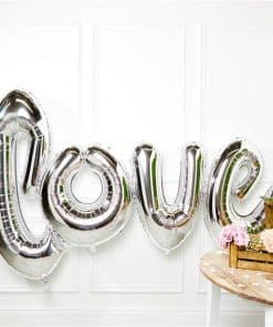 Giant Silver Love Balloon