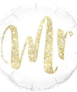 Gold Glitter Mr Balloon