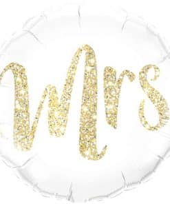 Gold Glitter Mrs Balloon