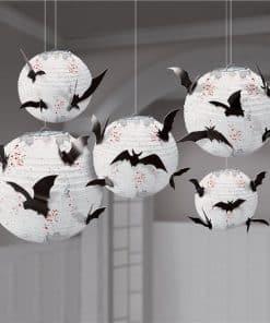Halloween Paper Lanterns with Bats Decoration