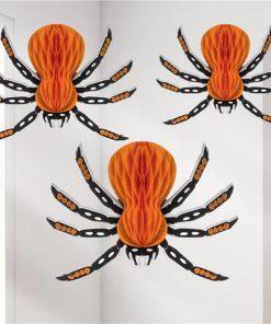 Halloween Honeycomb Spiders