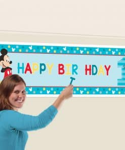 Mickey Mouse Fun to be One Personalised Banner Kit