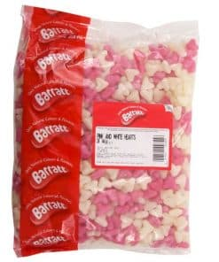 Pink & White Jelly Love Heart Sweets