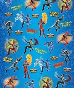 Power Rangers Jungle Fury Wrapping Paper