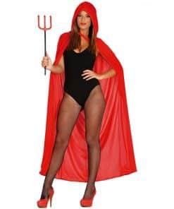 Halloween Red Velvet Cape with Hood