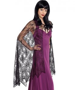 Halloween Spider Web Cape Adult Costume