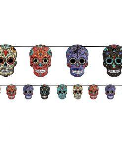 Halloween Sugar Skull Banner