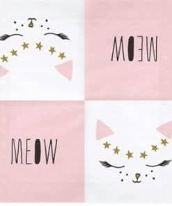 Meow Party Cat Face Napkins