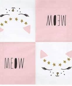 Meow Party Cat Face Napkins