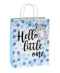 Blue Spot Hello Little One Large Gift Bag