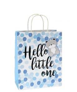 Blue Spot Hello Little One Medium Gift Bag