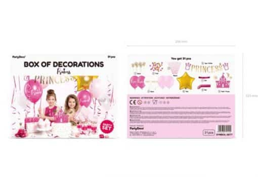 Box of Princess Party Decorations 2