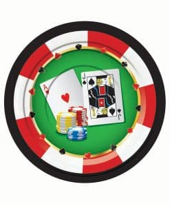Casino Party Paper Plates