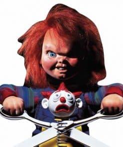 Halloween Chucky Doll With Scissors