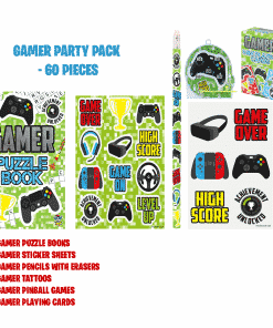 60 Piece Gamer Party Bag Fillers