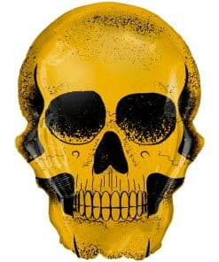Gold Skull Supershape Balloon