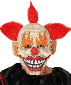 Latex Clown Mask with Hair
