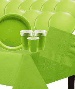 47 Pieces Lime Green Party Pack