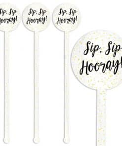 New Years Glitter Stirrers