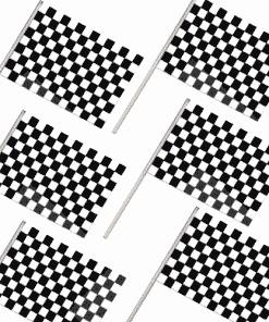Pack of 6 Racing Waving Flags