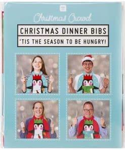 Penguin Parade Dinner Bibs