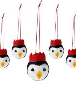 Penguin Parade Felt Tree Decorations