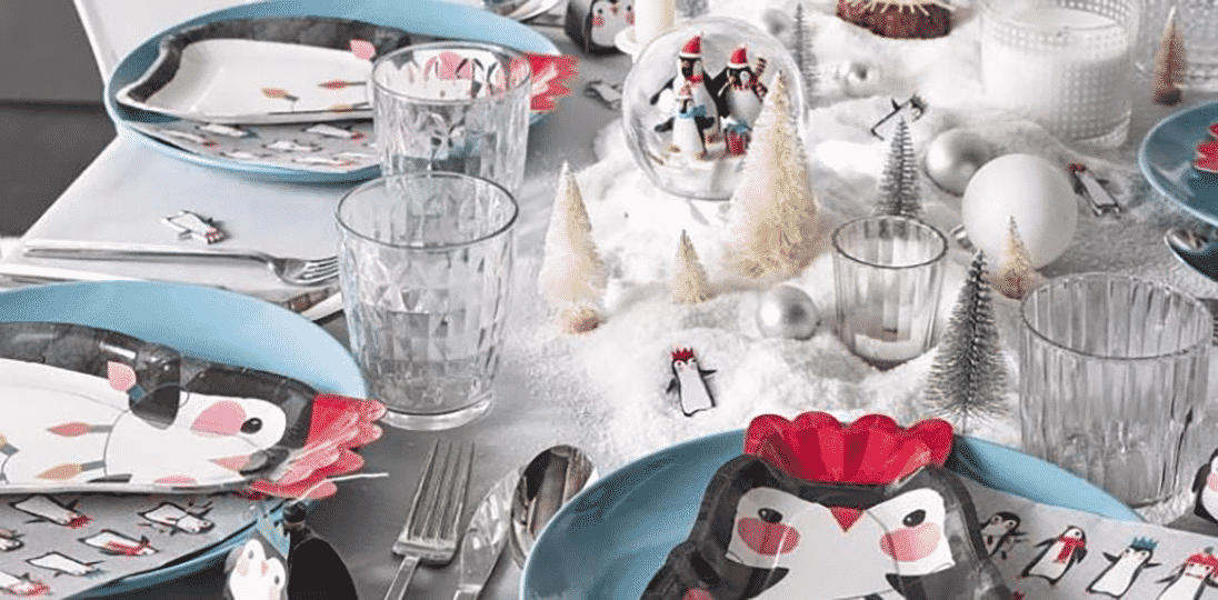Penguin Parade Party Decorations Talking Tables Next Day Delivery