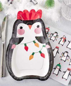 Penguin Parade Shaped Plates
