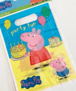 Peppa Pig Party Plastic Loot Bags