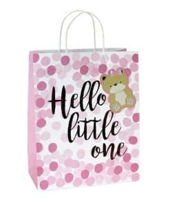 Pink Spot Hello Little One Large Gift Bag