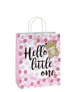 Pink Spot Hello Little One Medium Gift Bag
