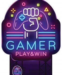 Gamer Sign Cardboard Cutout