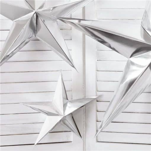 Silver Paper Star Decoration