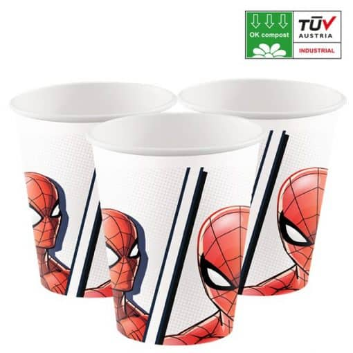 Spider-Man Compostable Paper Cups