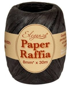 Black Paper Raffia