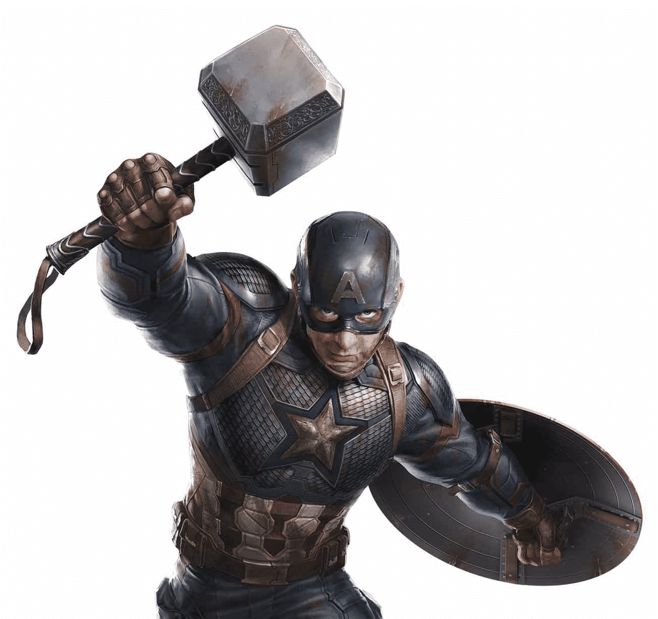 Captain America Using Mjolnir