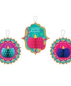 Diwali Hanging Honeycomb Decorations
