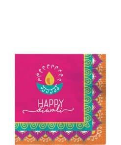 Diwali Paper Beverage Napkins