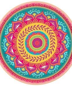 Diwali Plastic Serving Platter