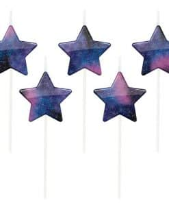 Galaxy Star Shaped Pick Candles