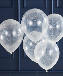 Gold Glitter Angel Hair Confetti Balloons