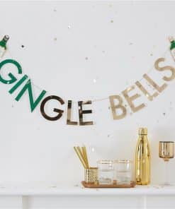 Gold Glitter GINgle Bells Bunting